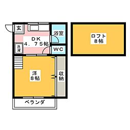 クラシカル姫子2[2階]の間取り
