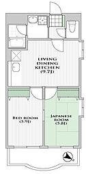 サンハイツ早宮[1階]の間取り