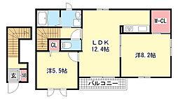 シャーメゾン鈴蘭台[2階]の間取り