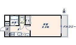 リバーライズ高井田[408号室]の間取り