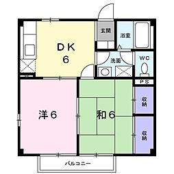 アンフィトリテI[2階]の間取り