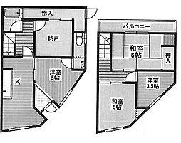 [テラスハウス] 大阪府堺市堺区出島町2丁 の賃貸【/】の間取り
