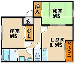 サンガーデン浄泉 東棟[1階]の間取り