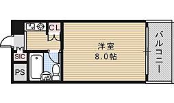 パレユニオン鶴ヶ丘[501号室]の間取り