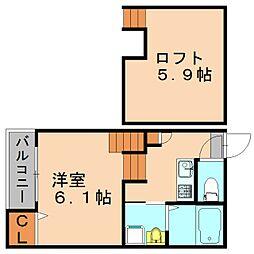 ミアムール箱崎[1階]の間取り