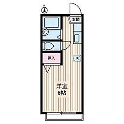 アパート松毬[2階]の間取り