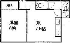 笹川マンション[101号室]の間取り