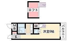 愛知県名古屋市昭和区田面町2丁目の賃貸マンションの間取り