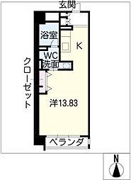 レジディア東桜II(東向)[10階]の間取り