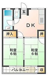王居殿公社ビル[3階]の間取り