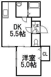 ビブレパークフロント[2階]の間取り