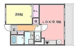 千葉県船橋市習志野4の賃貸マンションの間取り