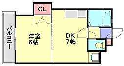 第2藤蔵ハイツ[2階]の間取り