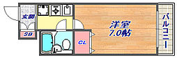 インペリアル六甲道[301号室]の間取り