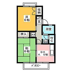 静岡県沼津市大塚の賃貸アパートの間取り