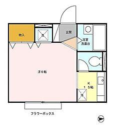 東京都練馬区平和台4丁目の賃貸アパートの間取り