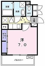 東京都東大和市立野1丁目の賃貸アパートの間取り