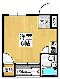 大阪府堺市東区北野田の賃貸マンションの間取り