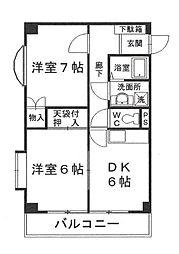 シャトレワン仲町台[3階]の間取り