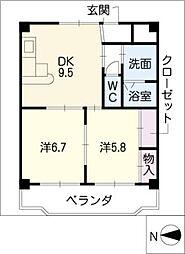 ラディアント柴田[9階]の間取り