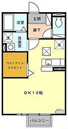 メゾンベール・コーヤII A棟[201号室]の間取り