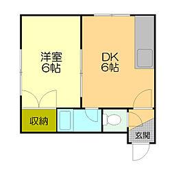 スクエア17[3階]の間取り