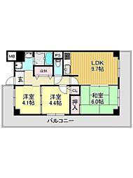 シェモア平野駅前[3O1号室号室]の間取り