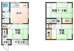 [タウンハウス] 千葉県市川市大和田5丁目 の賃貸【/】の間取り