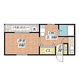 フレンズハイム[2階]の間取り