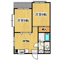 東京都杉並区高井戸東4丁目の賃貸マンションの間取り