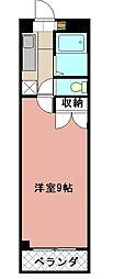 KMマンション八幡駅前[705号室]の間取り