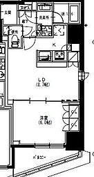 S-RESIDENCE曳舟 6階1LDKの間取り