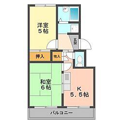 東京都葛飾区奥戸4丁目の賃貸マンションの間取り