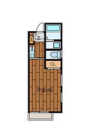 La mia casa 古淵[203号室]の間取り