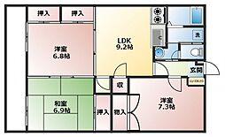 ガーデンフォレスト ノースウィング[5階]の間取り