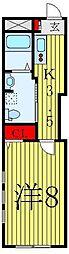 都営三田線 白山駅 徒歩6分の賃貸マンション 1階1Kの間取り