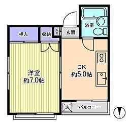 ミドリヤサニーマンション[605号室]の間取り