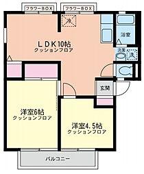 ウィンディア東戸塚[2階]の間取り