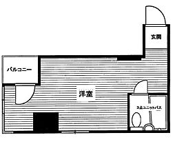 東京都新宿区四谷2丁目の賃貸マンションの間取り