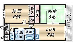 サンライズマンション[102号室]の間取り
