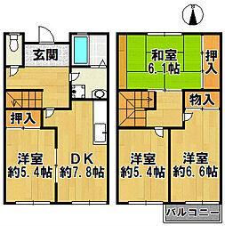 [テラスハウス] 兵庫県神戸市北区藤原台南町4丁目 の賃貸【/】の間取り