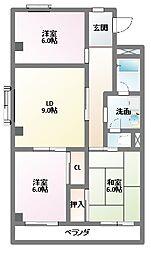 ルミナス87[3階]の間取り