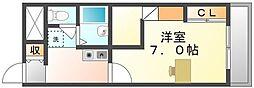 香川県坂出市久米町2丁目の賃貸アパートの間取り