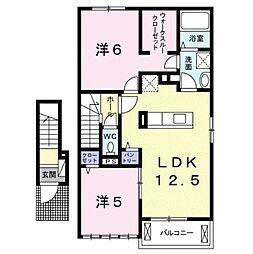 ロータス D[2階]の間取り