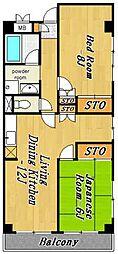 グレースマンション2[2階]の間取り
