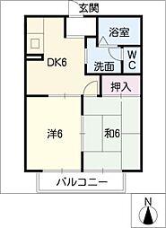 サクラハウス[2階]の間取り