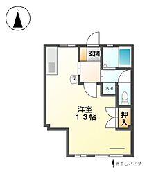 上名古屋マンション[2階]の間取り