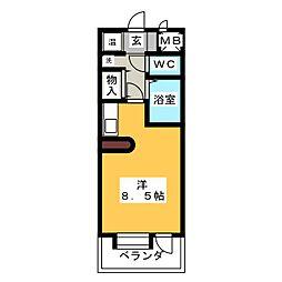 桜山アネックス[2階]の間取り