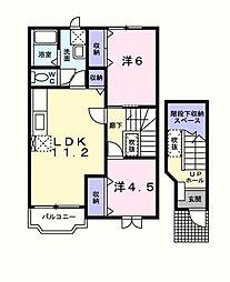 プルミエ[2階]の間取り
