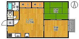 佐賀県小城市小城町の賃貸アパートの間取り